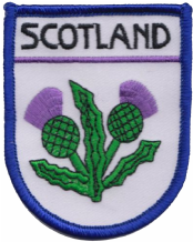 Scotland Thistles Embroidered Badge (a487)